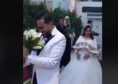 زوج يشاهد زوجته لأول مرة في الفرح