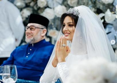 ملكة جمال موسكو توجه لملك ماليزيا فيديو