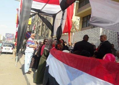 إقبال نسائي في الفترة المسائية بلجنة الجامعة العمالية بمدينة نصر