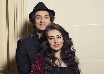 محمد محسن وزوجته هبه مجدي