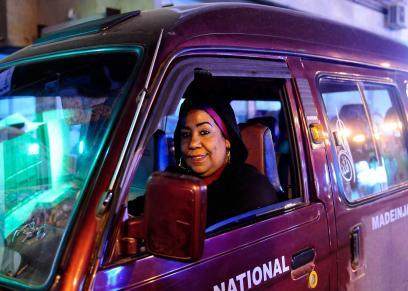 السائقة آمنة حسن نور