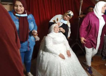 جانب من حفل زفاف بدار إيواء