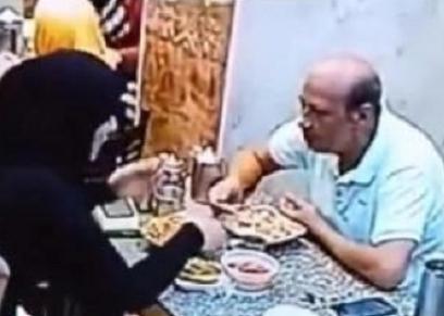 سيدة تعتدي على زوجها بطبق الكشري