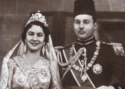 الملك فاروق والملكة فريدة