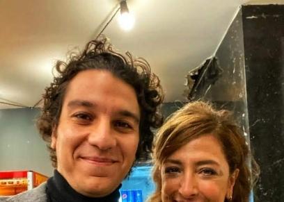 نور خالد النبوي ووالدته