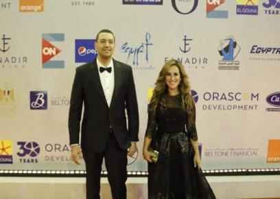 شيري عادل ومعز مسعود في افتتاح مهرجان الجونة