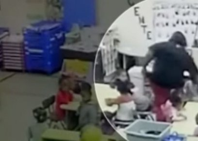 مقطع فيديو لمعلمة تعامل طفلة بوحشية