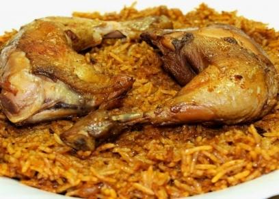 كبسة الدجاج على الطريقة المصرية