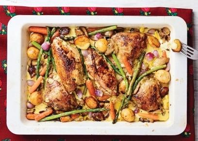 ستيك الدجاج بصوص الورشستر شاير