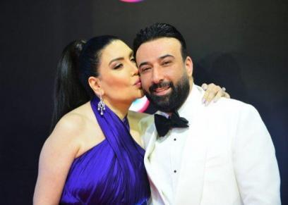 عبير صبري تحتفل بعيد ميلاد زوجها