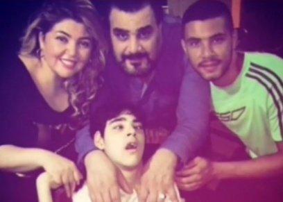 مها أحمد وعائلتها