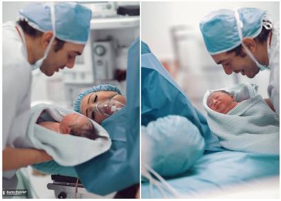 جلسة تصوير لزوجين داخل غرفة العمليات