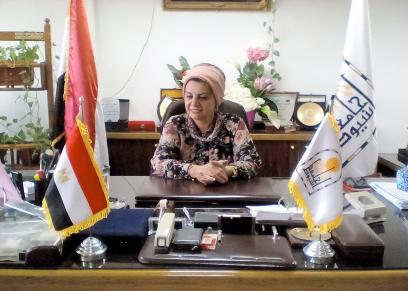 الدكتورة مها غانم نائب رئييس جامعة أسيوط