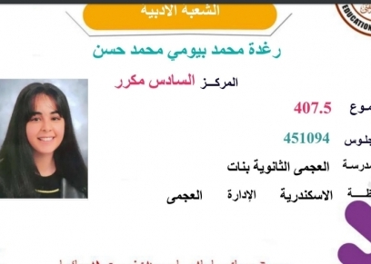 الطالبة رغدة محمد بيومي