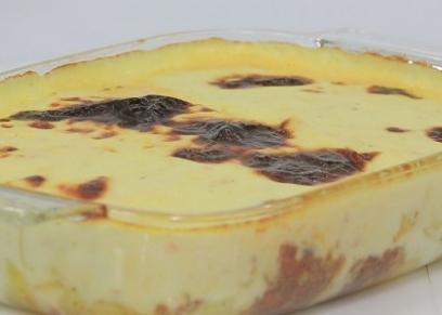 بطاطس بالبشاميل والجبن