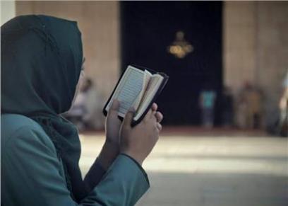 قراءة القرأن ـ صورة تعبيرية