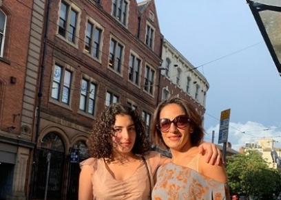 لينا الفيشاوي ووالدتها
