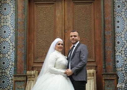 محمود الحديدي وزوجته نادية