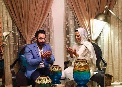 ابنة ماجد المصري خلال حفل الخطوبة