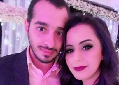 التونسية هيفاء طاهر وزوجها إبراهيم