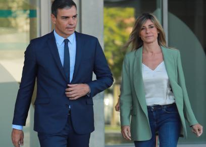بيدرو سانتشيز وزوجته بيجونا جوميز