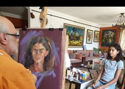 الفنانة التشكيلية دونزي الحسيني