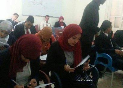 جانب من ورشة العمل داخل جامعة القاهرة