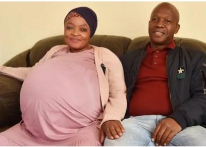 السيدة الجنوب إفريقية وزوجها