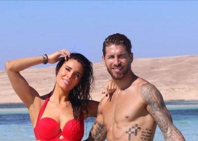 راموس وزوجته بشواطئ الغردقة