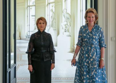 القاضية إشراف شبيل زوجة الرئيس التونسي قيس سعيد «شمال»