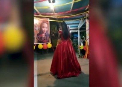 فتاة تصنع دمية تحمل شكل والدها المتوفى ليرقص معها في عيد ميلادها
