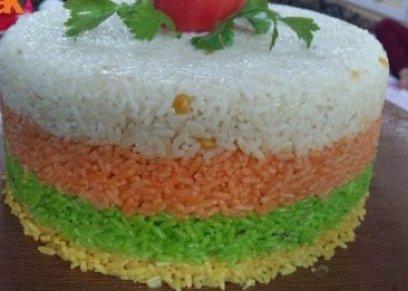الأرز الملون