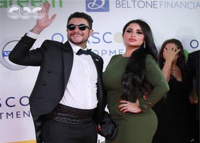 بالصور| أول ظهور لأحمد الفيشاوي مع زوجته بعد شائعات الطلاق