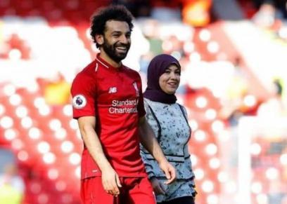 محمد صلاح وزوجته ماجي صادق