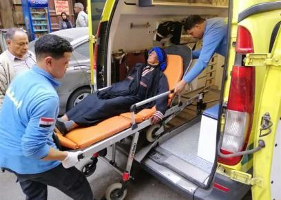 السيدة فريال محمد بعد اصدار الرئيس أمر بعلاجها على نفقة الدولة