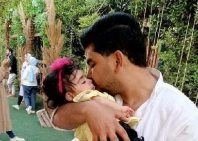 محمد السيد مع ابنته الراحلة إيمان