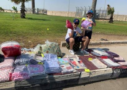 أولاد «نرمين» يشاركونها بيع المفروشات
