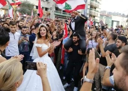 عروس انتفاضة لبنان