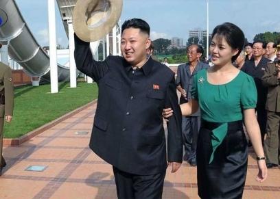 زعيم كوريا الشمالية  وزوجته