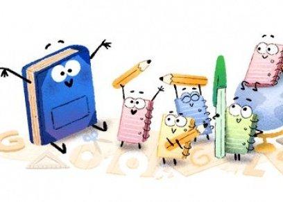 شعار جوجل بمناسبة بداية العام الدراسي الجديد