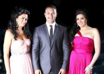 غادة عبدالرازق وابنتها روتانا وزوجها