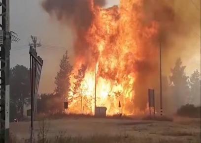 طفلة تشعل النيران في 12 منزلا