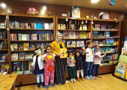 جهاد مع الأطفال في المكتبة