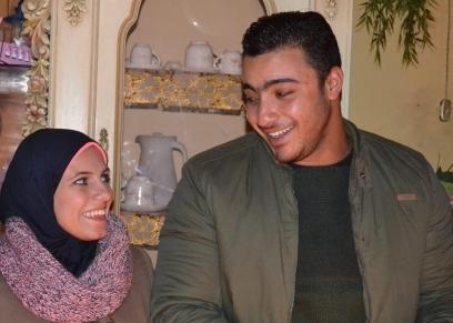 الشهيد خالد مغربي وزوجته رضوى مجدي