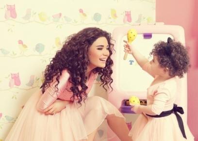 سيرين عبدالنور وابنتها