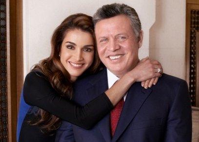 الملكة رانيا وزوجها
