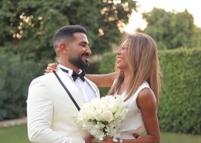 أحمد سعد وزوجته علياء بسيوني