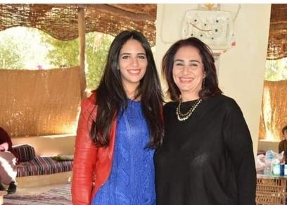 الفنانة مريم سعيد صالح وابنتها