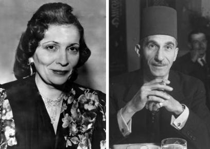 الملكة نازلي وزوجها أحمد حسنين