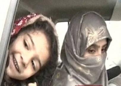 سجى الدليمي وابنتها هاجر البغدادي